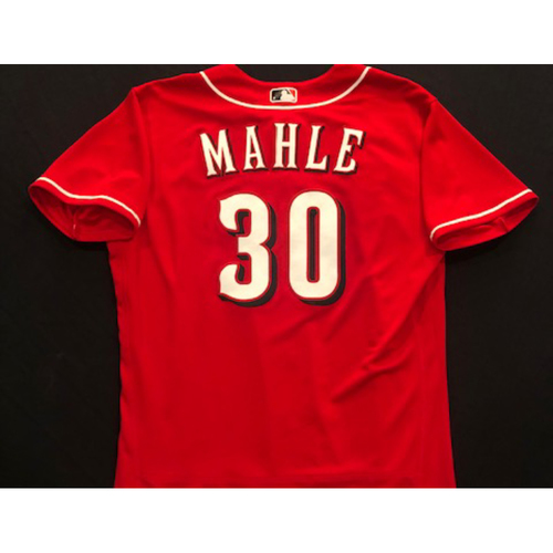 Photo of Tyler Mahle -- 2020 Spring Training Jersey -- Team-Issued -- Size 46