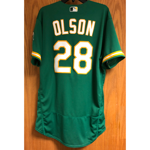 Photo of Game-Used 2020 Jersey - Matt Olson (HR #5, Career #94)