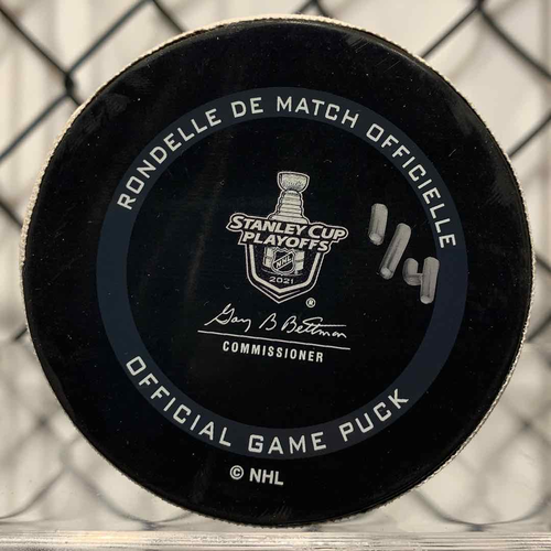 2021 SCP North Division Round 1 Game Used Puck (LE #1 of 4)