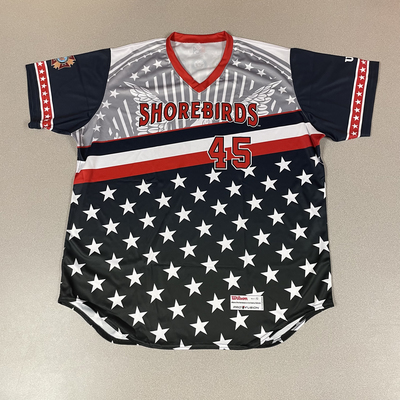 Patriotic Game Worn Autographed Jersey #45 Size 52 Leonardo Rodriguez