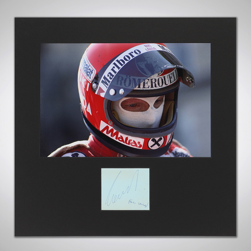 Photo of Niki Lauda Photograph With Mounted Autograph