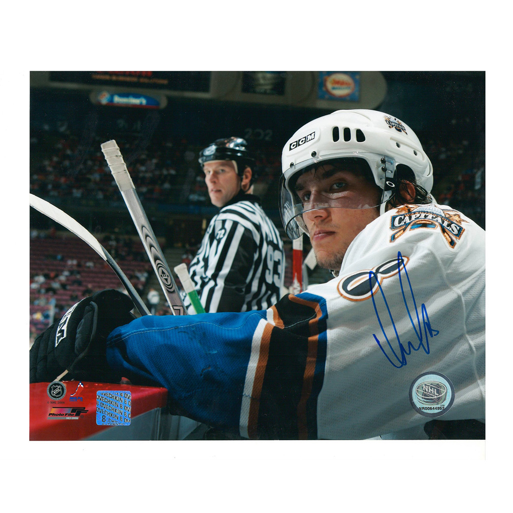 ALEXANDER OVECHKIN Signed Washington Capitals 8 X 10 Photo - 70361