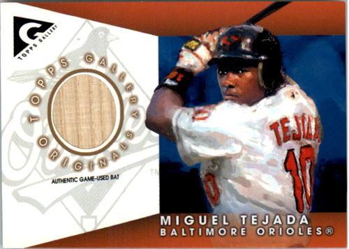 Photo of 2005 Topps Gallery Originals Relics #MTE Miguel Tejada Bat