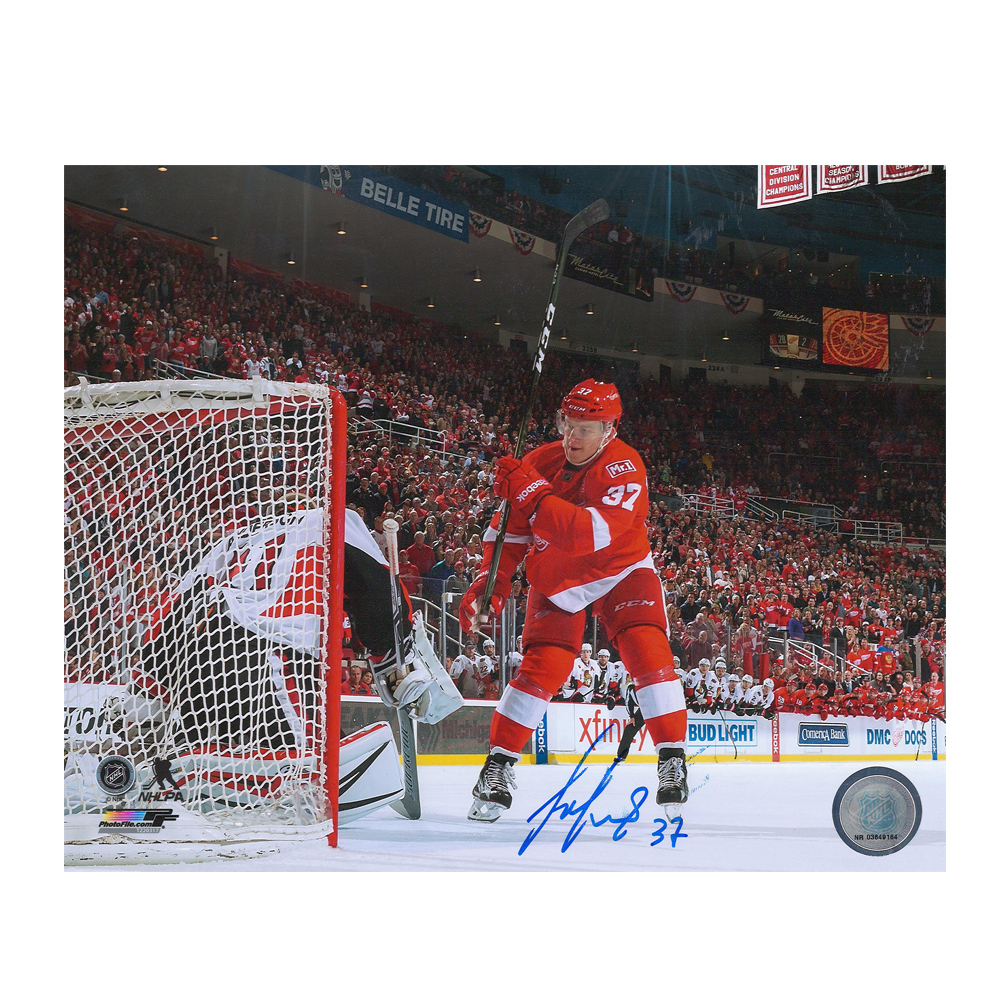 EVGENY SVECHNIKOV Signed Detroit Red Wings 8 X 10 Photo - 70492