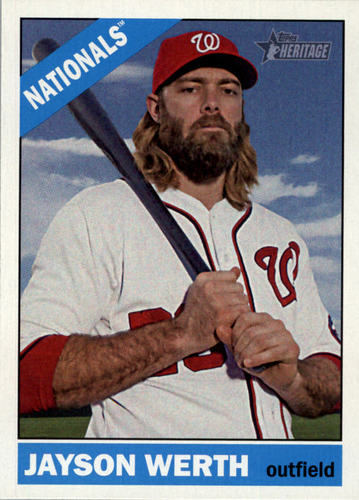 Photo of 2015 Topps Heritage #295 Jayson Werth -- Nationals post-season
