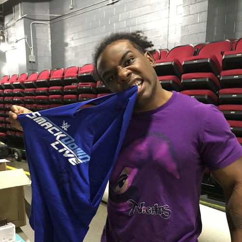Photo of Xavier Woods WORN & SIGNED T-Shirt (Survivor Series - 11/19/17)