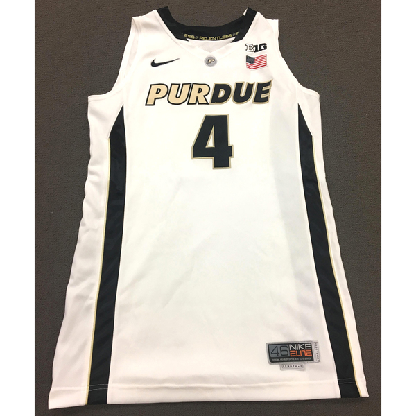Photo of Thornton #4 Purdue Women's Basketball 2012-13 White Jersey