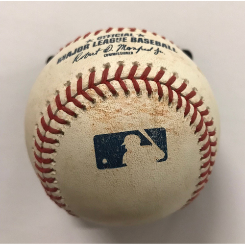 Photo of Scooter Gennett Game-Used Hit Double Baseball - 6/27/2018