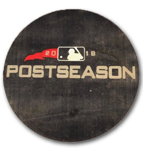 Photo of 2018 Postseason Game-Used On-Deck Circle - Home Side