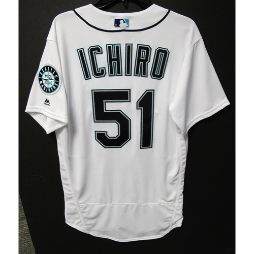Photo of Seattle Mariners Ichiro Suzuki Team Issued White Jersey