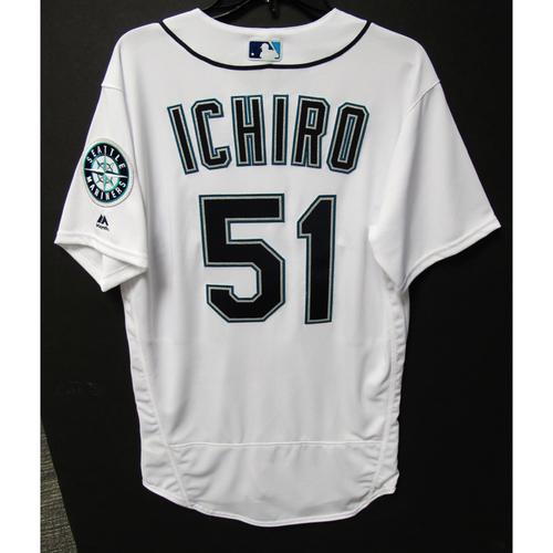 Seattle Mariners Ichiro Suzuki Team Issued White Jersey