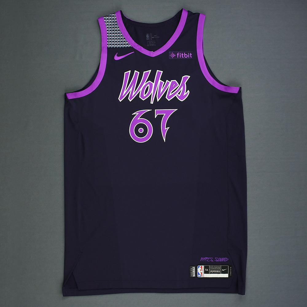 new products 8cacd 032d1 Taj Gibson - Minnesota Timberwolves - Game-Worn City Edition ...
