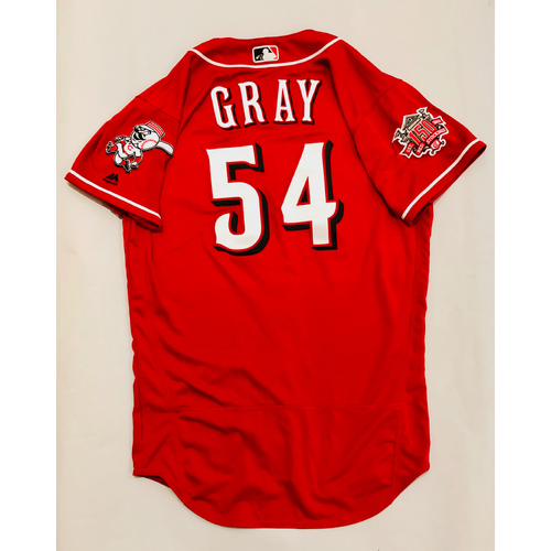 Photo of 2019 Mexico Series Game Used Jersey - Sonny Gray Size 44 (Cincinnati Reds)