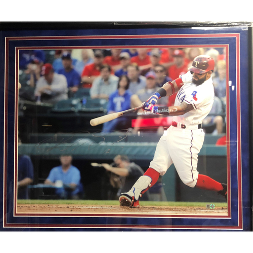 Photo of Rougned Odor Hitting - Autographed 16x20 Photo