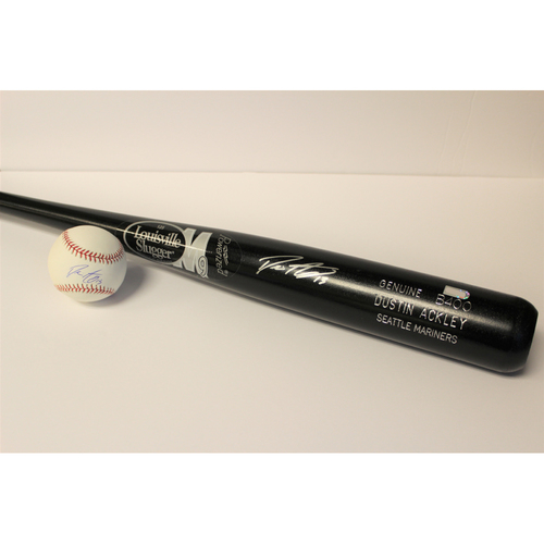 Photo of Mariners Care: Dustin Ackley Autographed Bat & Ball
