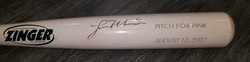 Photo of Lou Marson Autographed Pink Memorabilia Bat