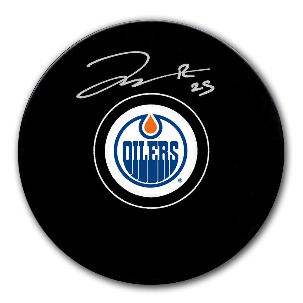 Darnell Nurse Edmonton Oilers Autographed Puck