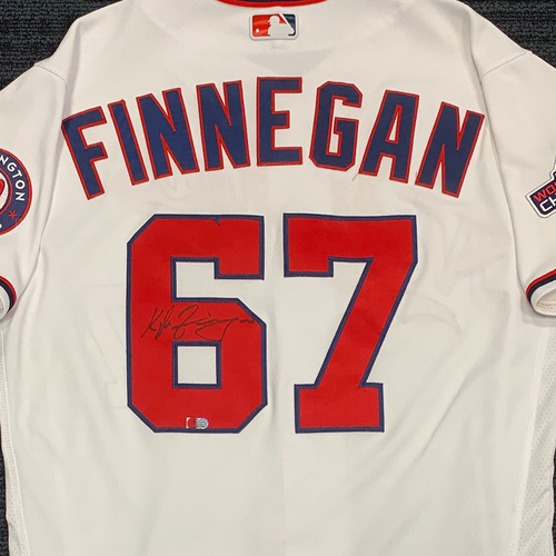 Photo of Washington Nationals Philanthropies Jerseys Off Their Back Auction - Kyle Finnegan - Autographed Game-Used Jersey - Size 44
