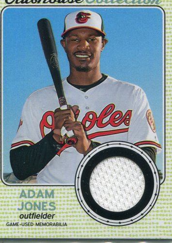 Photo of 2017 Topps Heritage Clubhouse Collection Relics #CCRAJ Adam Jones
