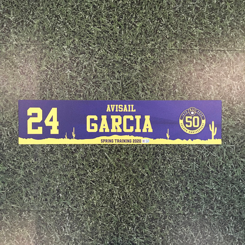 Photo of Avisail Garcia 2020 Team-Issued Spring Training Locker Nameplate