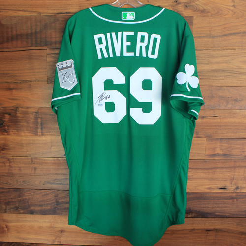 Photo of Autographed 2020 St. Patrick's Day Jersey: Sebastian Rivero #69 - Size 46