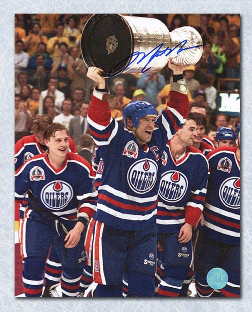Mark Messier Edmonton Oilers Autographed 1990 Stanley Cup 8x10 Photo