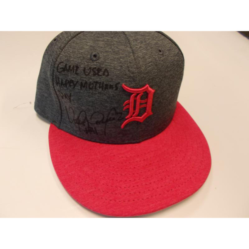 Autographed Game-Used Mother's Day Cap: Victor Martinez