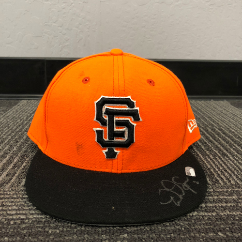 ... where can i buy san francisco giants holiday steals autographed 2017  players weekend cap 2 denard 28c2a1d8a58e