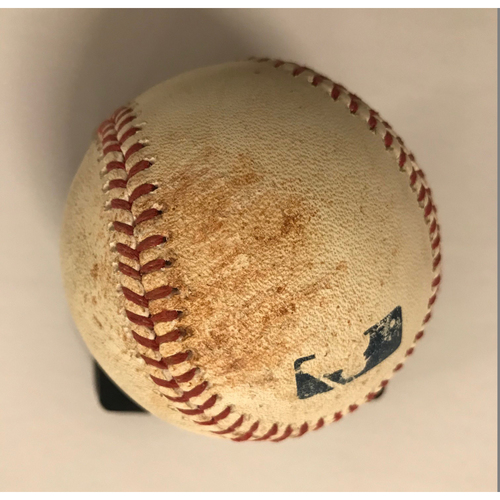 Photo of Jose Peraza Game-Used Hit Triple Baseball - 6/26/2018