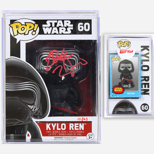 Adam Driver Star Wars: The Force Awakens Funko Pop - 'RED' SIGNATURE # TO 23