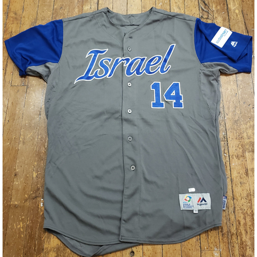 Photo of 2017 World Baseball Classic Game Used Jersey - Cody Decker - Size 48 (Israel)