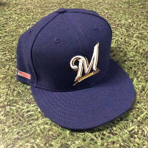 Photo of Craig Counsell 03/28/19 Team-Issued Opening Day Cap