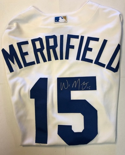 Photo of Whit Merrifield Autographed Royals Replica Jersey