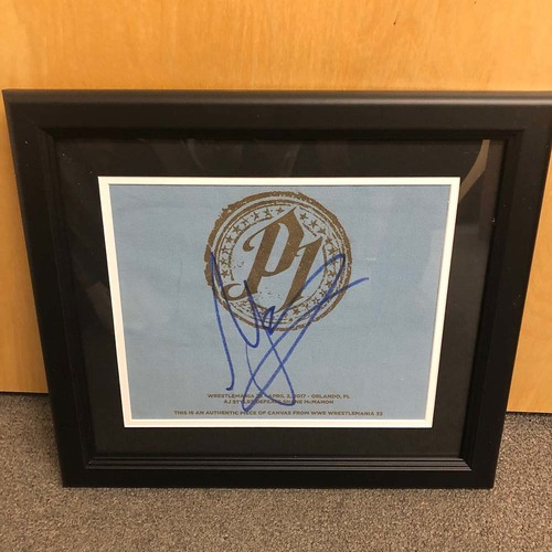 Photo of AJ Styles SIGNED & Framed Ring Canvas Plaque