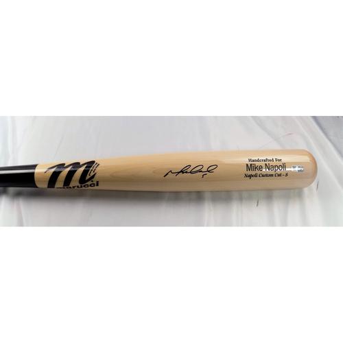 Photo of Mike Napoli Autographed Bat