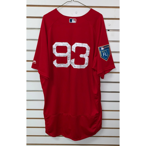 Photo of #93 Team Issued 2018 Spring Training Jersey