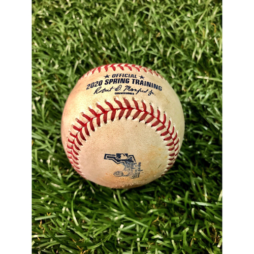 Photo of Spring Training Game Used Baseball: Anthony Alford single off Trevor Richards - March 4, 2020 v TOR