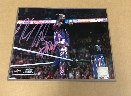 Photo of Kofi Kingston SIGNED WrestleMania 36 Exclusive Photo (Random Number)
