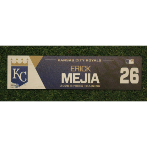 Photo of Game-Used Spring Training Locker Tag: Erick Mejia #26