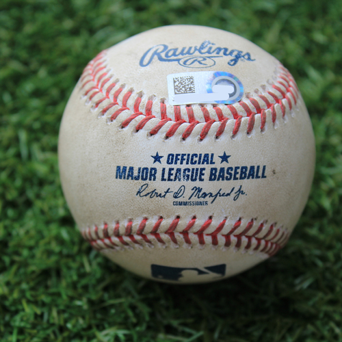 Photo of Game-Used Baseball: Nick Madrigal 3rd Career Hit (CWS @ KC 8/2/20)