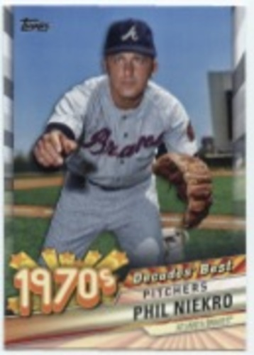 Photo of 2020 Topps Decades' Best #DB40 Phil Niekro