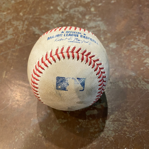 Photo of 2020 Game Used Baseball - Chadwick Tromp Home Run - 9/6/2020 vs AZ - Bottom 3rd: Young to Tromp - Home Run to LF