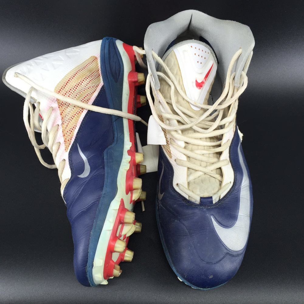 Patriots - Cameron Fleming Game Used Cleats