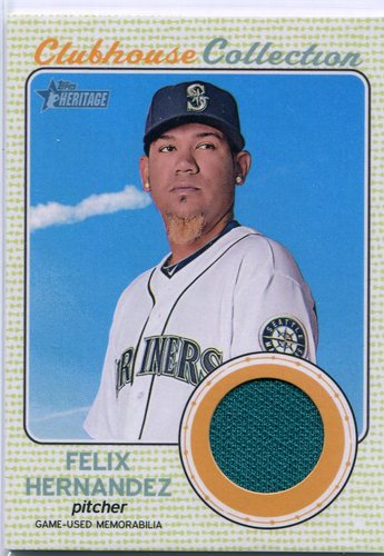 Photo of 2017 Topps Heritage Clubhouse Collection Relics #CCRFH Felix Hernandez