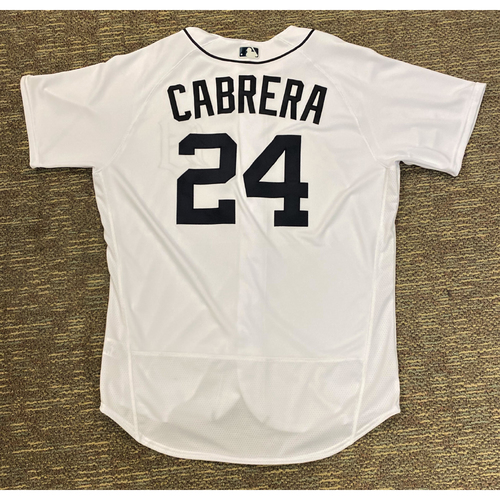 Photo of Miguel Cabrera Detroit Tigers 2020 Game-Used Home #24 Jersey (MLB AUTHENTICATED)
