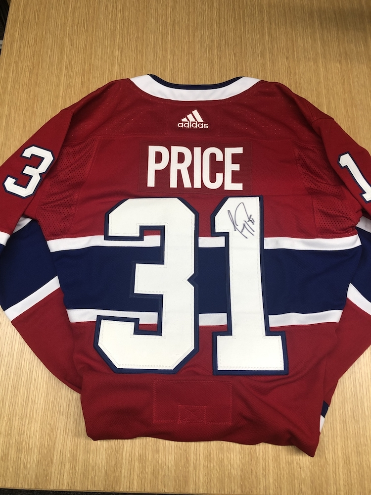 Carey Price Montreal Canadiens Autographed adidas Authentic jersey.  Donated by the NHLPA and benefitting Hockey Fights Cancer