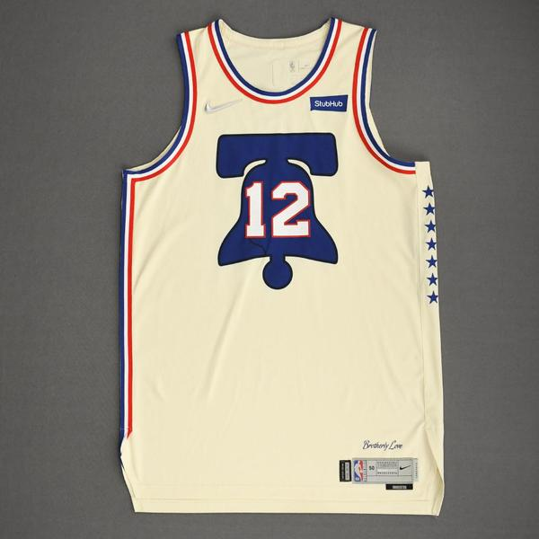 Image of Tobias Harris - Philadelphia 76ers - Game-Worn Earned Edition Jersey - Scored Game-High 23 Points - 2020-21 NBA Season