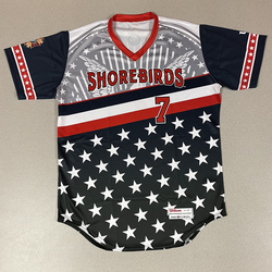 Photo of Patriotic Game Worn Autographed Jersey #7 Size 42 Dave Anderson