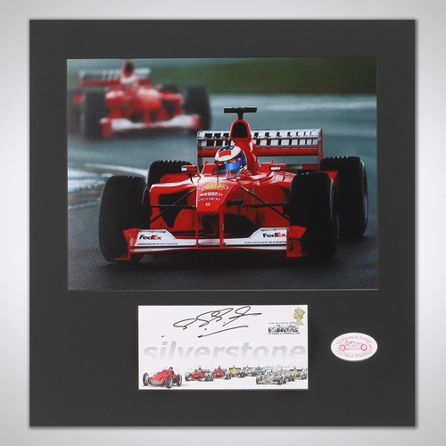 Photo of Michael Schumacher 2000 Signed British Grand Prix First Day Cover & Photograph