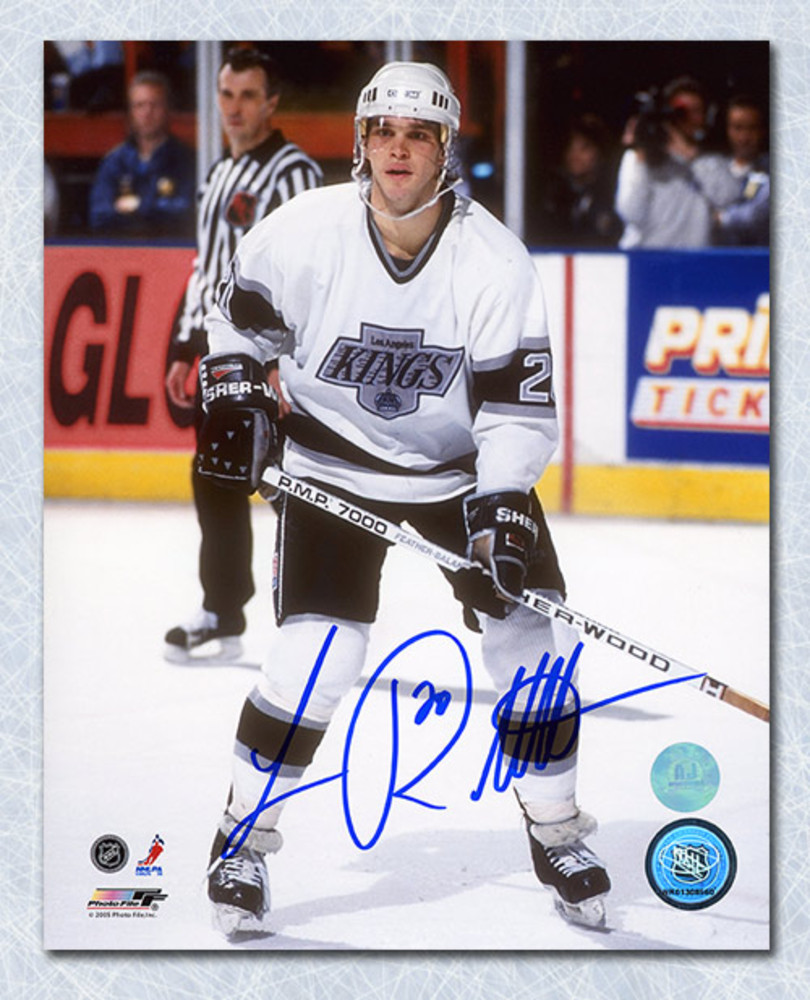 Luc Robitaille Los Angeles Kings Autographed Game Action 8x10 Photo